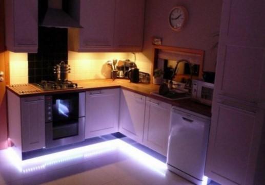 Выбор светодиодной ленты для подсветки кухни