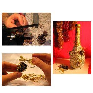 Декупаж бутылки шампанского на новый год- мастер классы, идеи, как красиво украсить бутылку